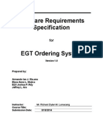 EGT Ordering System - Software Engineering Documentation