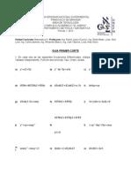 Guia Primer Corte matematica iV
