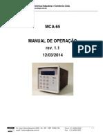 Manual Controlador de Processo AutoClave AMCP MCA 65