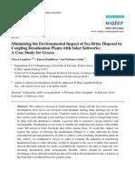 Minimizing the Environmental Impact of Sea Brine Dispos