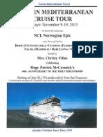 WESTERN MEDITERRANEAN CRUISE TOUR