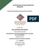 Laboratorio Nº 09 medidas electricas