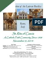 St. Rita Parish Bulletin 11/9/2014