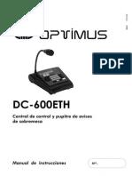 Pupitre microfonico dc-600ETH