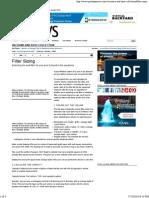 Filter Sizing - Pool & Spa News