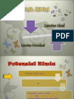 Potensial Kimia Larutan Ideal Dan Non Ideal