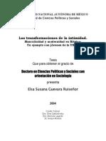 Elsa Guevara - Las Transformaciones de La Intimidad. Masculinidad y Modernidad en Mexico_un Ejemplo Con Jovenes de La Unam