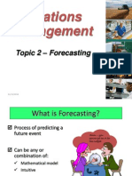 Topic 2 -Forecasting