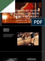 Descripción Del Servicio de La Prostitución