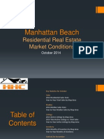 Manhattan Beach Real Estate Market Conditions - October 2014