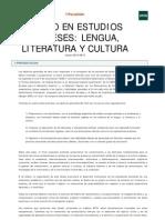 UNED - Grado en Estudios Ingleses
