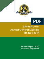 Saftea Annual Report 2013