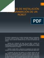 Criterios de Instalación y Programación de Un Robot 1