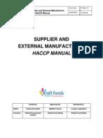 Supplier HACCP Manual