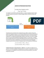 Balances en Procesos Reactivos(Felder)