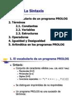 Tema 2. La Sintaxis en prolog