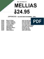 Camellias 2009-2010 Price List