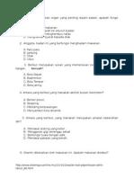 Kertas Ujian Pendidikan Kesihatan Tahun 3 KSSR