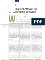 Side Channel Attacks on Cryptographic Software