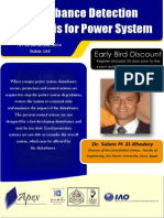 Ee-20 Disturbance Detection Analysis for Power Systems