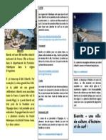 Brochure Touristique - Biarritz
