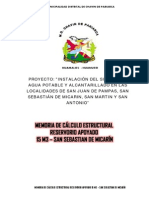 Reservorio Micarin 15 m3