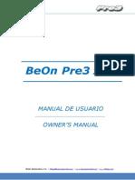 BeOn Pre3 Manual de usuario / Owner´s Manual