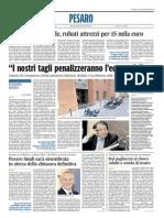 Pesaro Studi sarà smembrata in attesa della chiusura definitiva - Il Corriere Adriatico dell'11 novembre 2014