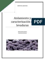 Aislamiento y Caracterización de Levaduras de Levaduras