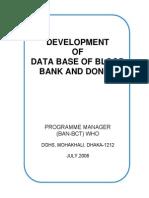 Development of Data Base of BBD
