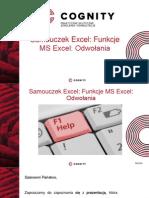 Samouczek Excel- Funkcje Ms Excel- Odwołania