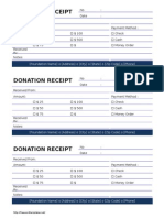 Donation Receipt - Cash Donation 2