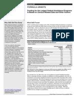 GAO Summary Formula Grants 12 09