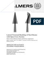 Lateral-Torsional Buckling of Steel Beams with Open Cross Section