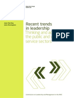 Recent Trends in Leadership Thinking Action in Public Voluntary Service Sectors 2011