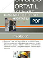 Comunicador Portatil o Walkie-Talkie