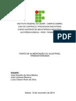 Relatório Fonte Ajustavel 0 a 12 v 1 a Linhares, Dizelio e Luiza