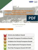 Kebijakan dan Rencana Aksi Penanganan Permukiman Kumuh (Slum Alleviation Policy and Action Plan)