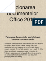 Fuziunea Documentelor Word 2013