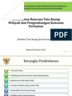 Keterkaitan Rencana Tata Ruang Wilayah Dan Pengembangan Kawasan Pertanian