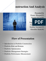 Portfolio ConstructionAnd Analysis