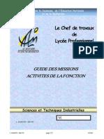 Guide Des Missions Du Chef Des Travaux