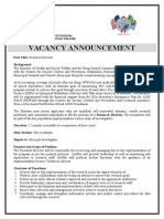 Vacancy announcement advert - Reserach Director.doc