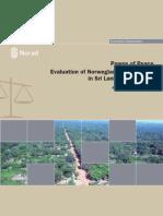 Pawns Og Peace, Evaluation of Norwegian Peace Efforts in Sri Lanka 1997-2009