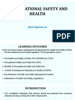 Organisational Safety and Health Lecture 1