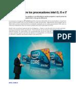 Diferencia Entre Los Procesadores Intel i3