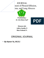 Management of Pleural Effusion, Empyema