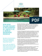 Verypcc - BOM BOM ISLAND RESORT IS RECOGNIZED BY UNESCO AS A WORLD BIOSPHERE RESERVE  - 2014-06-23.pdf