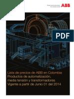 ABB Lista de Precios 2014
