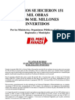 Obras Del 2006 - 2010 a Nivel Nacional (Partido Aprista Peruano)